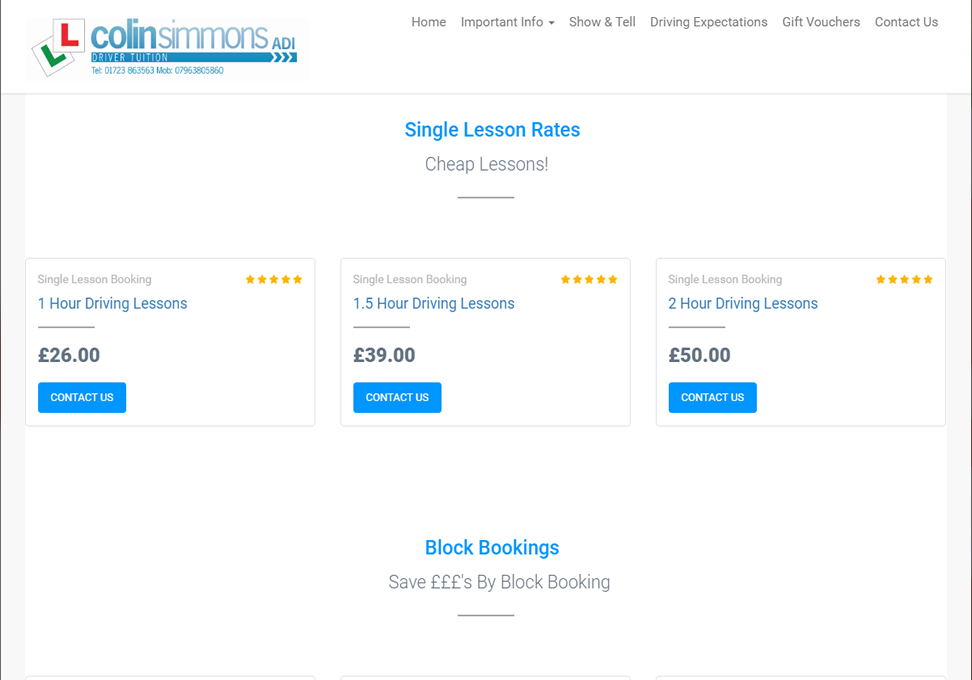 Scarboroughdrivingschool Lesson Prices