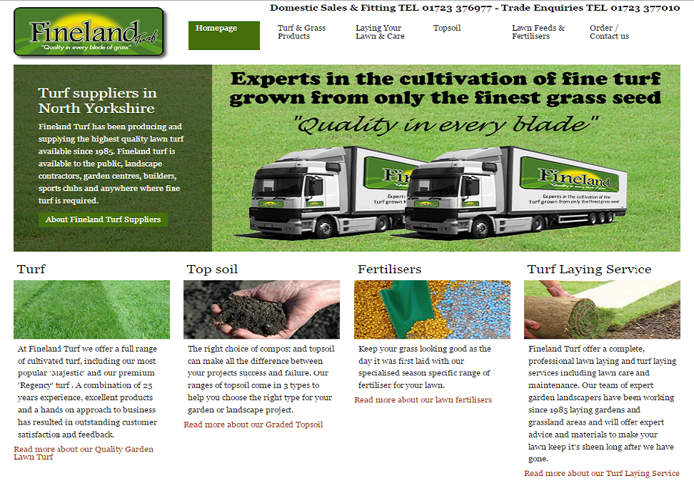 Fineland Turf Homepage
