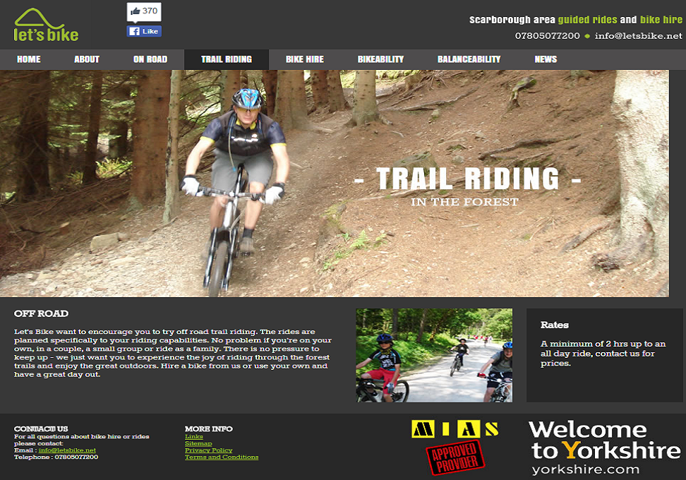 Letsbike Trail Riding Webpage